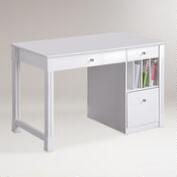 White Wood Clara Desk