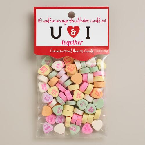 Heritage Gummy Conversation Hearts Candy, Set of 12