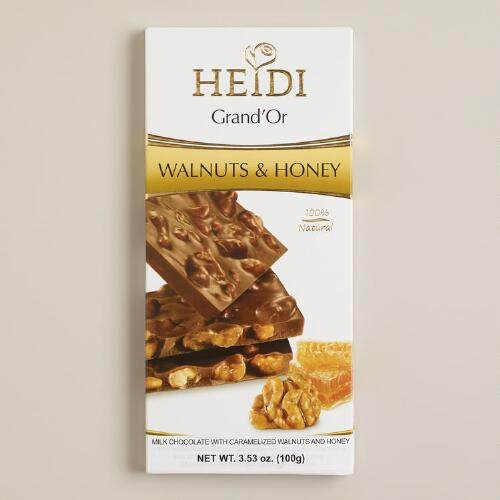 Heidi Walnuts and Honey Milk Chocolate Bar