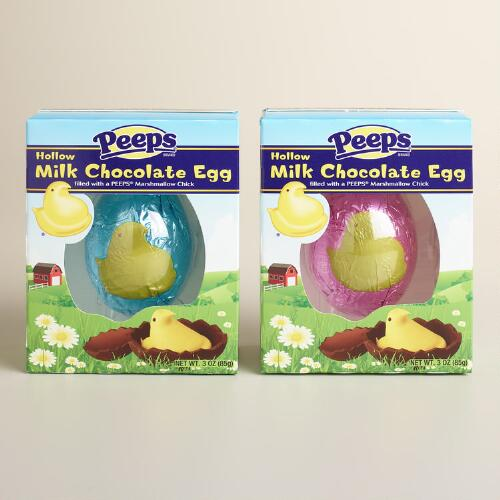 Peeps Yellow Chick in Chocolate Eggs, Set of 2