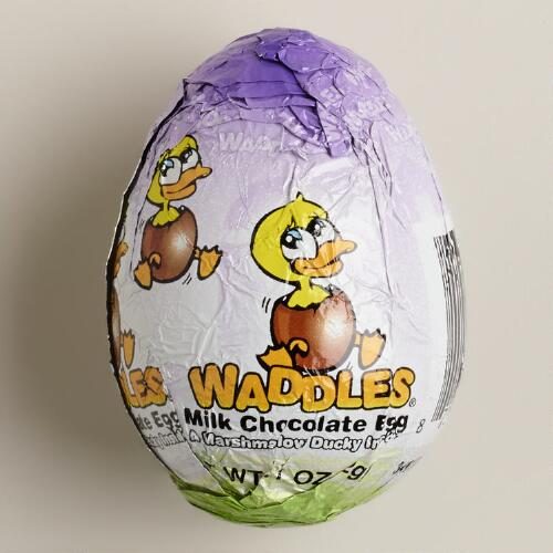 Waddles Milk Chocolate Eggs with Marshmallow, Set of 4