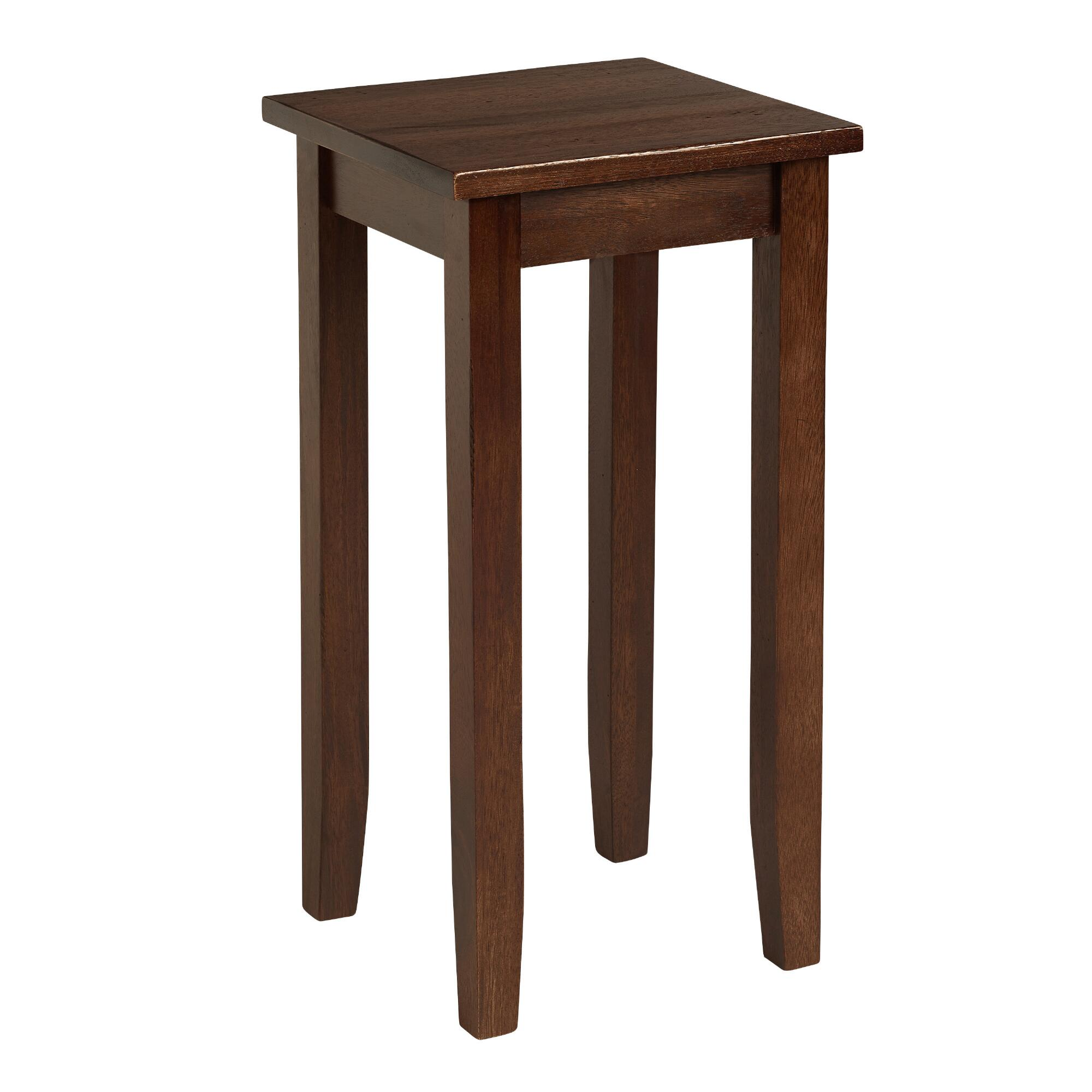 Small mahogany chloe accent table world market for Small wood end table