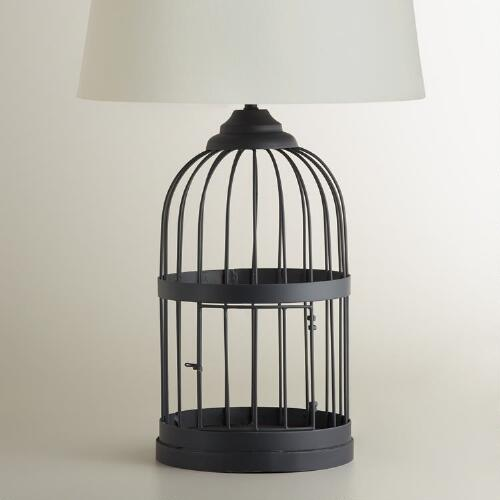 Metal Birdcage Table Lamp Base