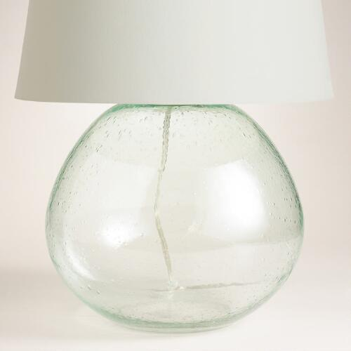 Green Glass Table Lamp Base
