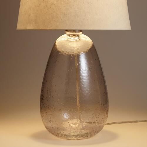 Smoke Glass Table Lamp Base