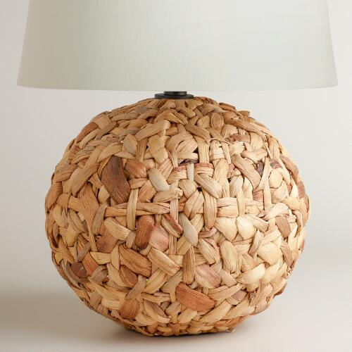 Rattan Weave Table Lamp Base