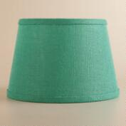 Dusty Jade Burlap Accent Lamp Shade