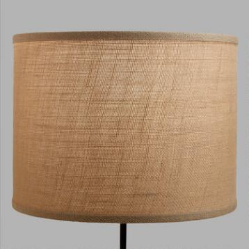 Natural Burlap Drum Table Lamp Shade