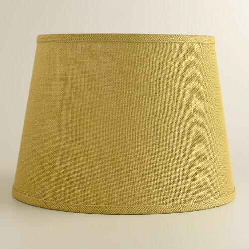 Green Burlap Table Lamp Shade
