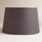 Gray Burlap Floor Lamp Shade
