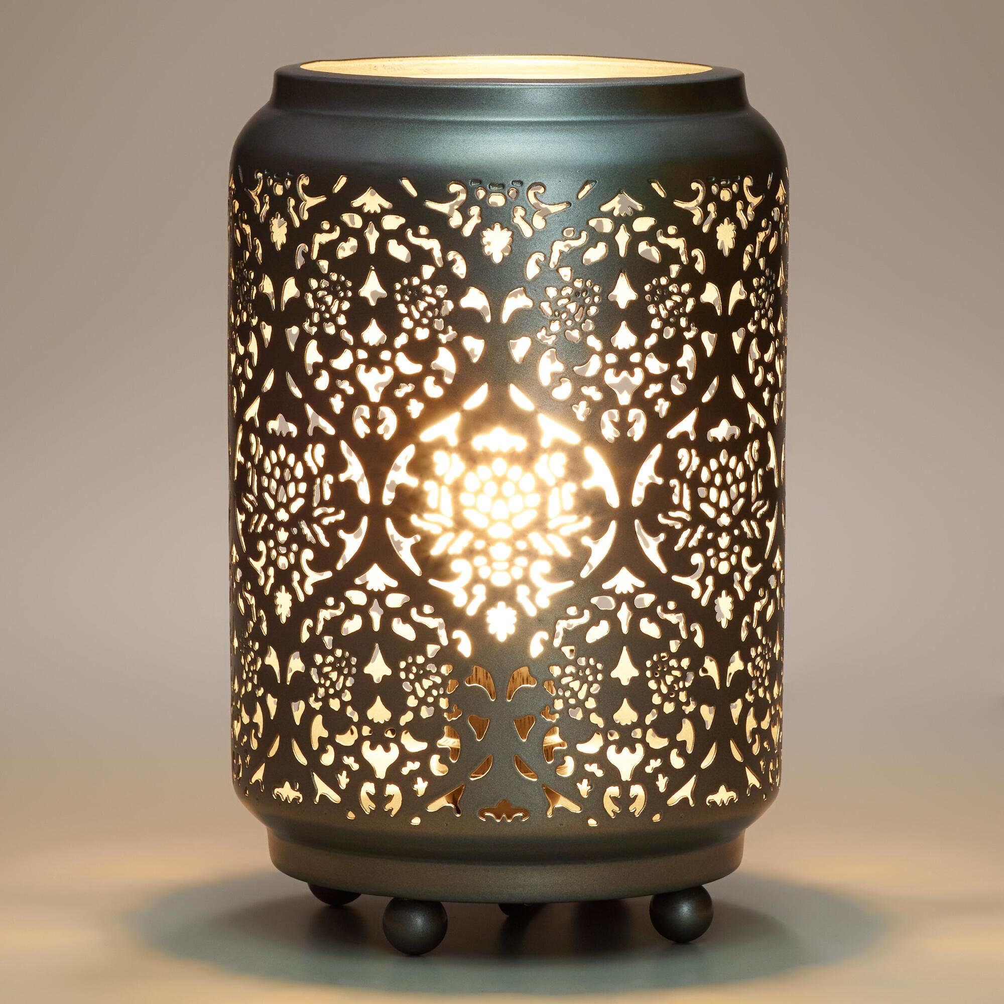 Baroque Cylinder Punched Metal Accent Lamp World Market