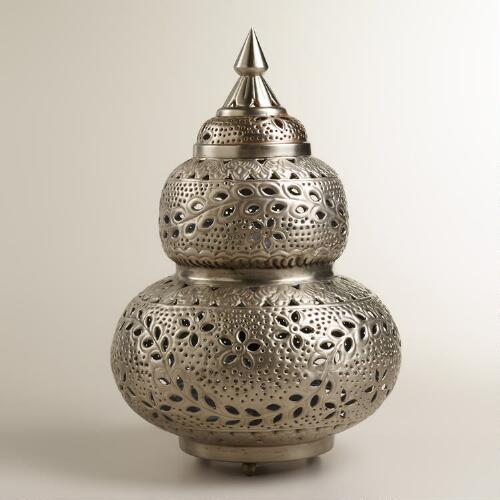 Extra-Large Moroccan Punched Metal Lamp