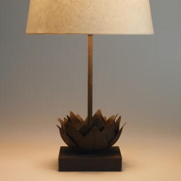Metal Lotus Accent Lamp Base