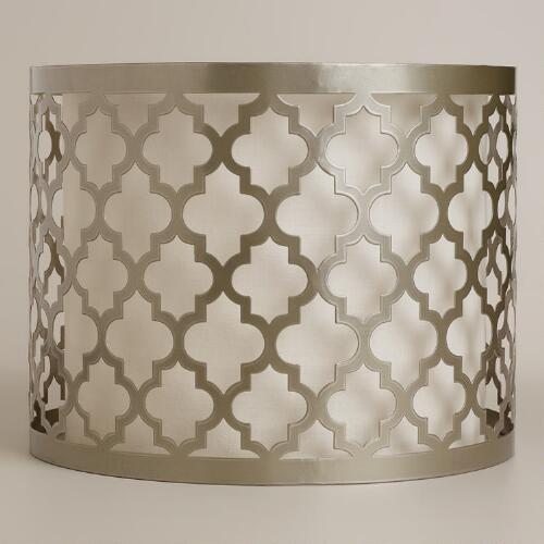 Moroccan Lattice Drum Table Lamp Shade