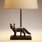 Metal Fox Accent Lamp Base