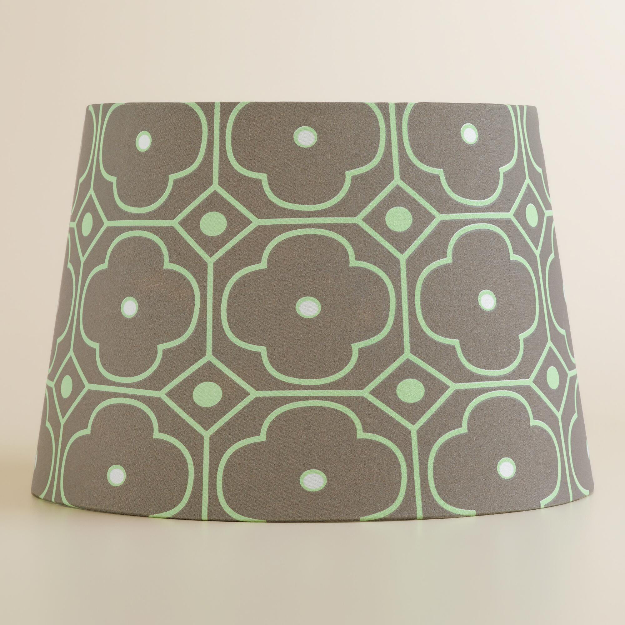 gray and mint geo accent lamp shade world market. Black Bedroom Furniture Sets. Home Design Ideas