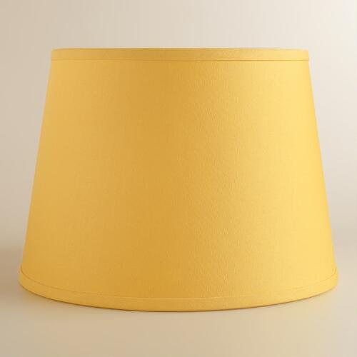 Yellow Cotton Linen Table Lamp Shade