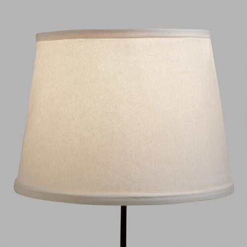 White Collapsible Canvas Table Lamp Shade