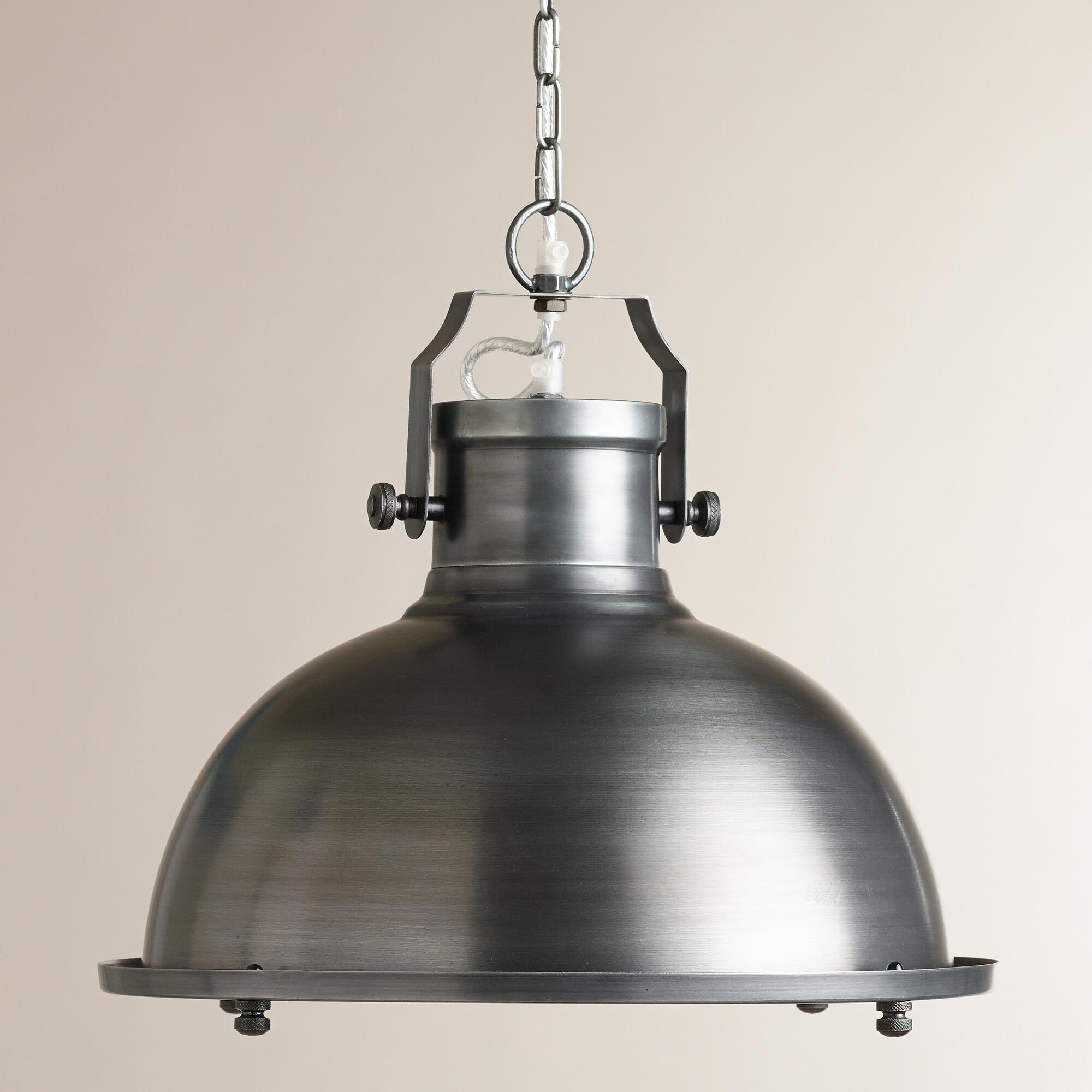 Nautical metal hanging pendant lamp world market for Metal hanging lights