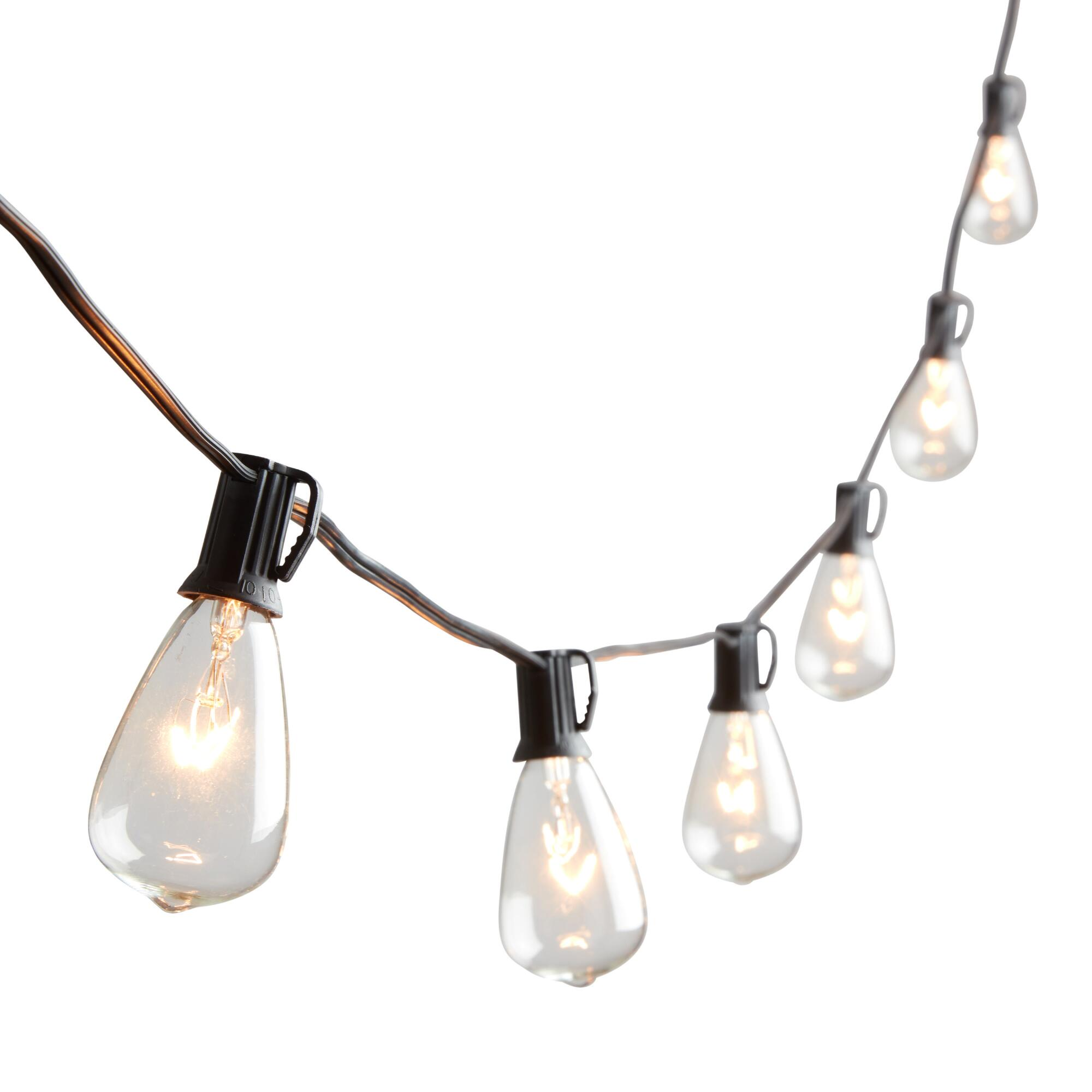 Outdoor String Lights Hardware: Edison-Style String Lights