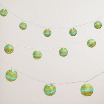 Wavy Stripe Paper String Lights