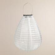 White Teardrop Solar-Powered LED Lantern