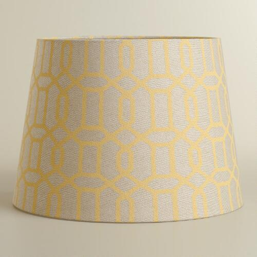 Yellow Window Print Table Lamp Shade