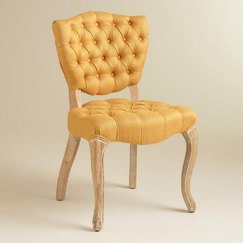 Honey Gold Emma Tufted Chairs, Set of 2