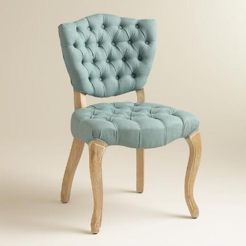 Blue Emma Tufted Chairs, Set of 2