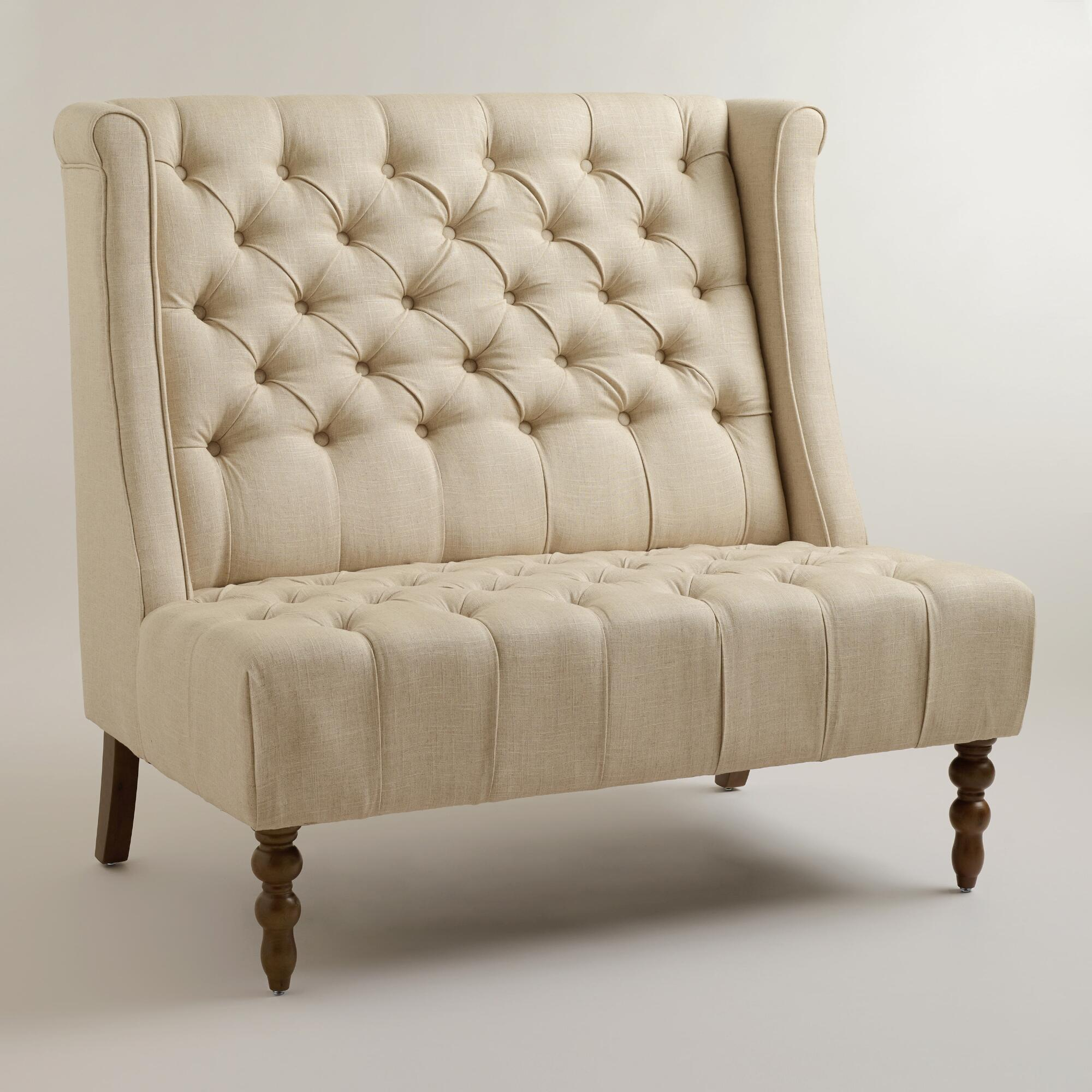 linen high back settee world market