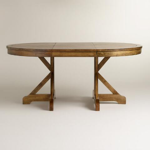 Round To Oval X Base Extension Table World Market