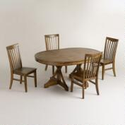 Round to Oval X Base Dining Collection