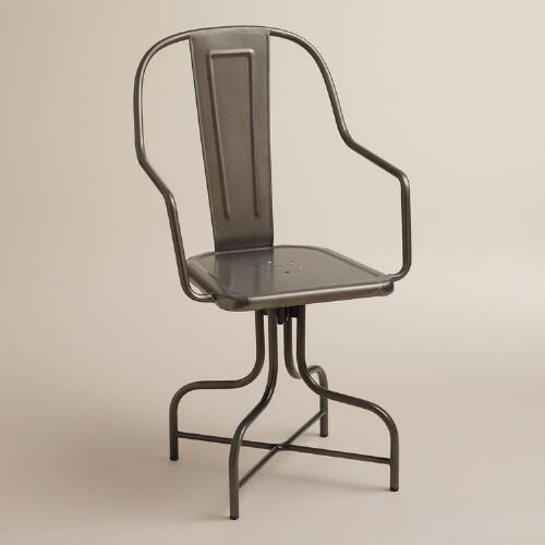 Celia Metal Swivel Chair