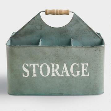 Zinc Donna Storage Caddy