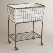 Ellie Rolling Laundry Cart