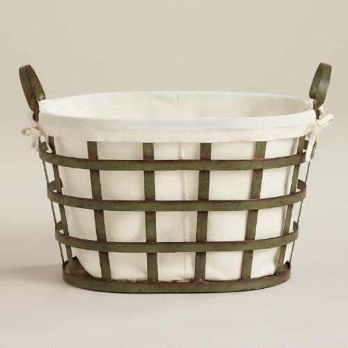 Skyler Metal Laundry Basket