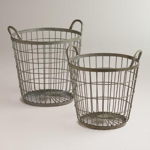 Zinc Jayden Wire Baskets