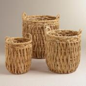 Nicole Banana Leaf Tote Baskets