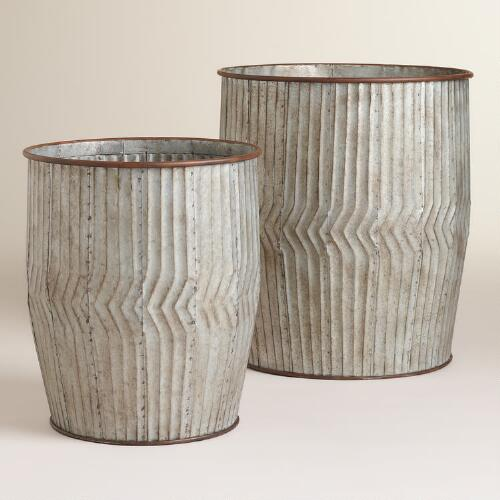 Ginnie Galvanized Metal Containers