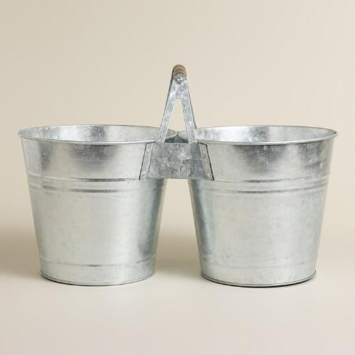Galvanized Double Drink Bucket
