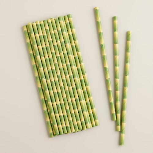 Bamboo Paper Straws, 25-Pack