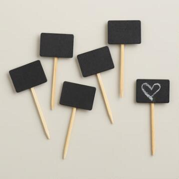 Chalkboard Picks, Set of 12