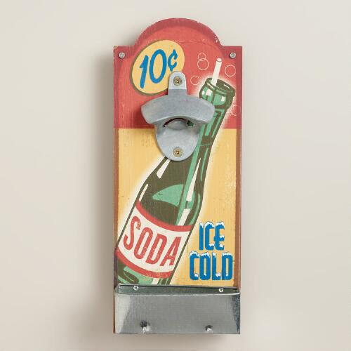 Soda Wall-Mounted Bottle Opener
