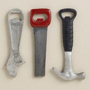 Assorted Tool Bottle Openers, Set of 3