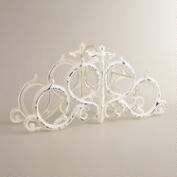 Distressed White 4-Bottle Wine Rack