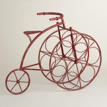 Red Bicycle 6-Bottle Wine Rack