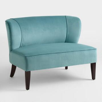 Caribbean Blue Quincy Loveseat