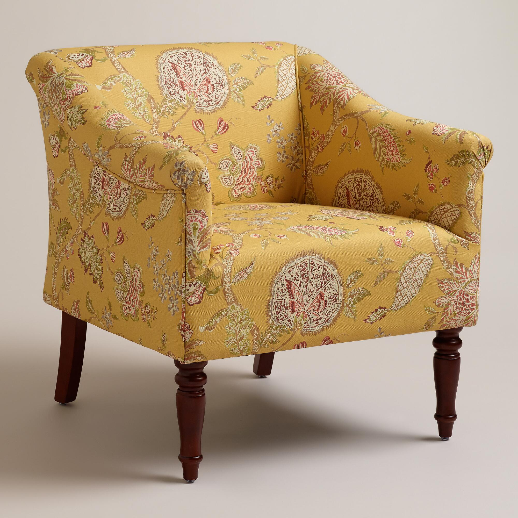 Yellow Floral Charlotte Chair World Market