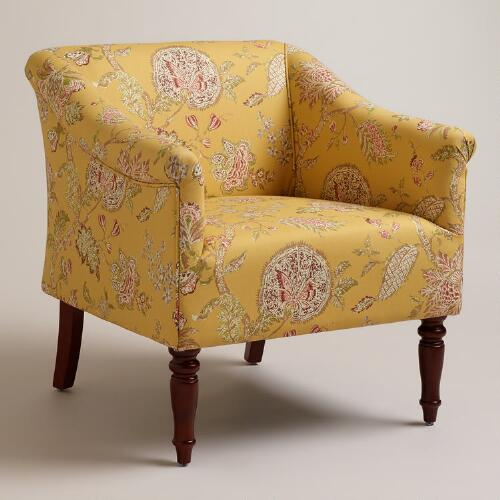 Yellow Floral Charlotte Chair
