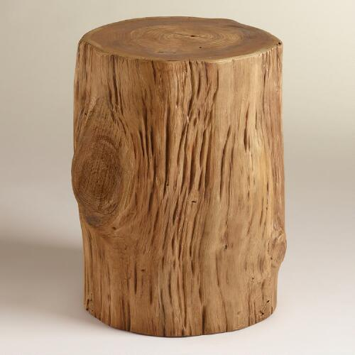 Teak Tree Stump Table